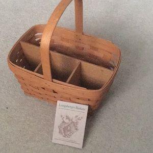 Longaberger baskets with divider